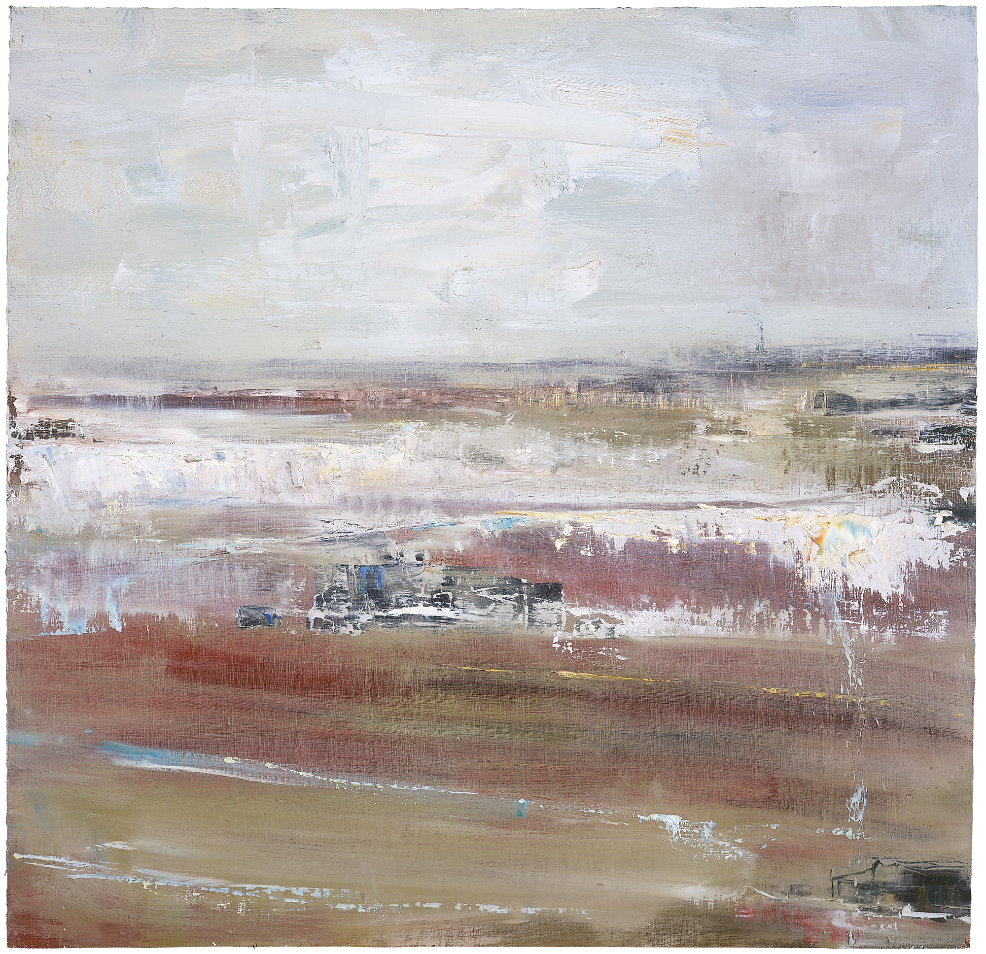 Pink Sands, Gwithian Beach.  Oil on board. 61 x 61cm.  Sold