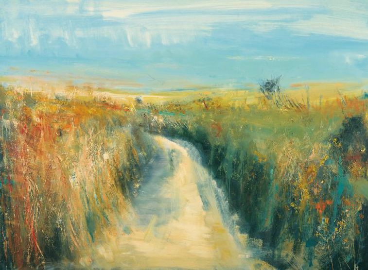 Lane to the Sea, Summer.  Oil on board. 88 x 120cm  Sold