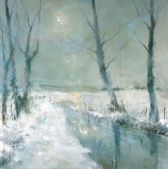 Winter Still.  Oil on board. 100 x 100cm  Sold