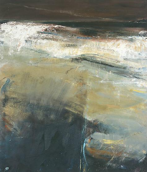 Black Sea, Cape Cornwall.  Oil on board. 106 x 91cm  Sold