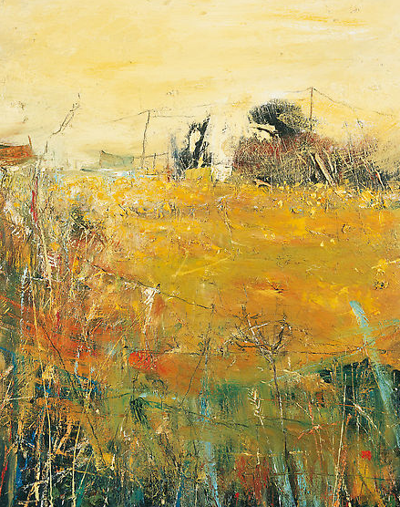 Through to the Daffodil Fields, Gwithian.  Oil on board. 70 x 55cm  Sold