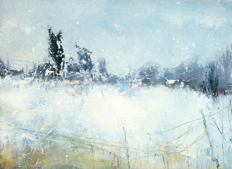 February Snowfall on a Devon Village