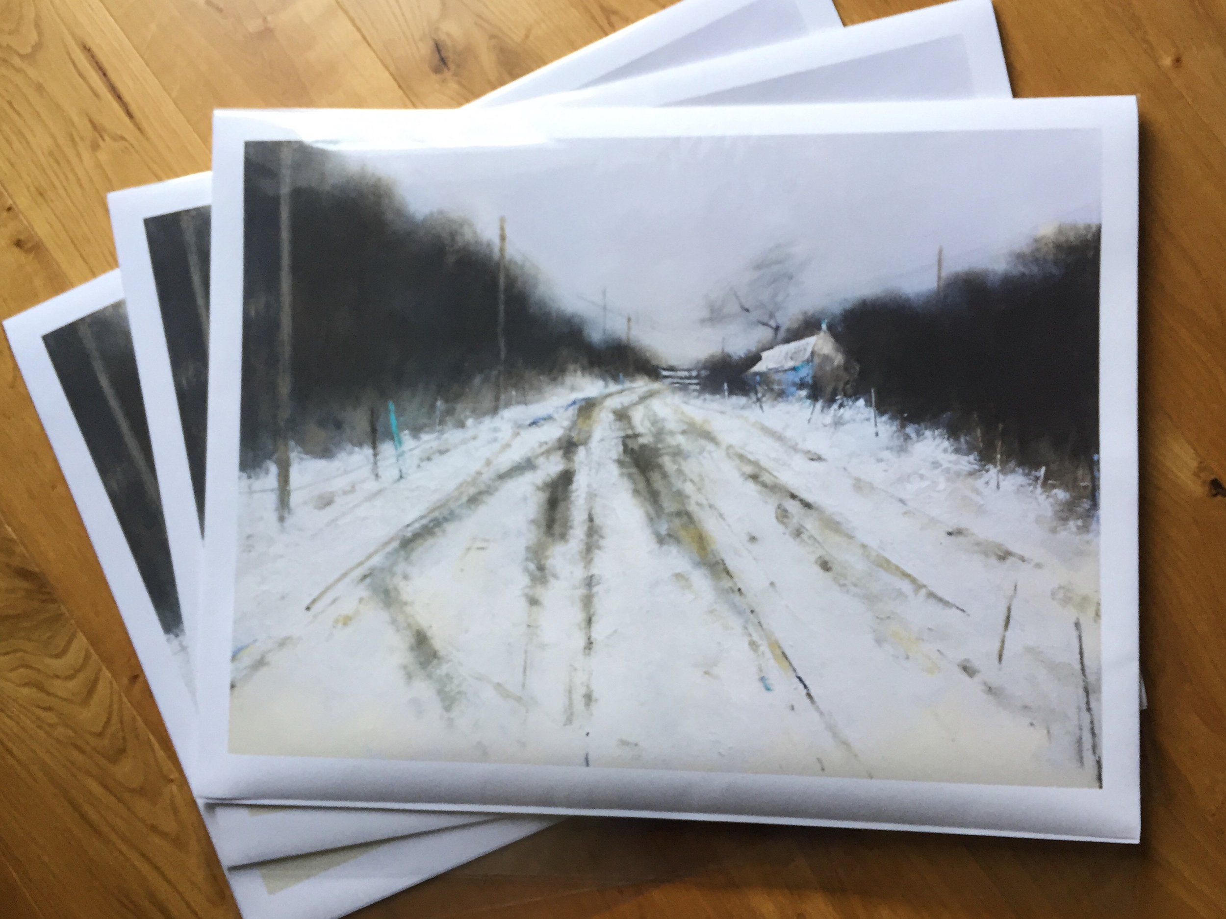 Winter Tracks. 56 x 76cm. Special Edition Print