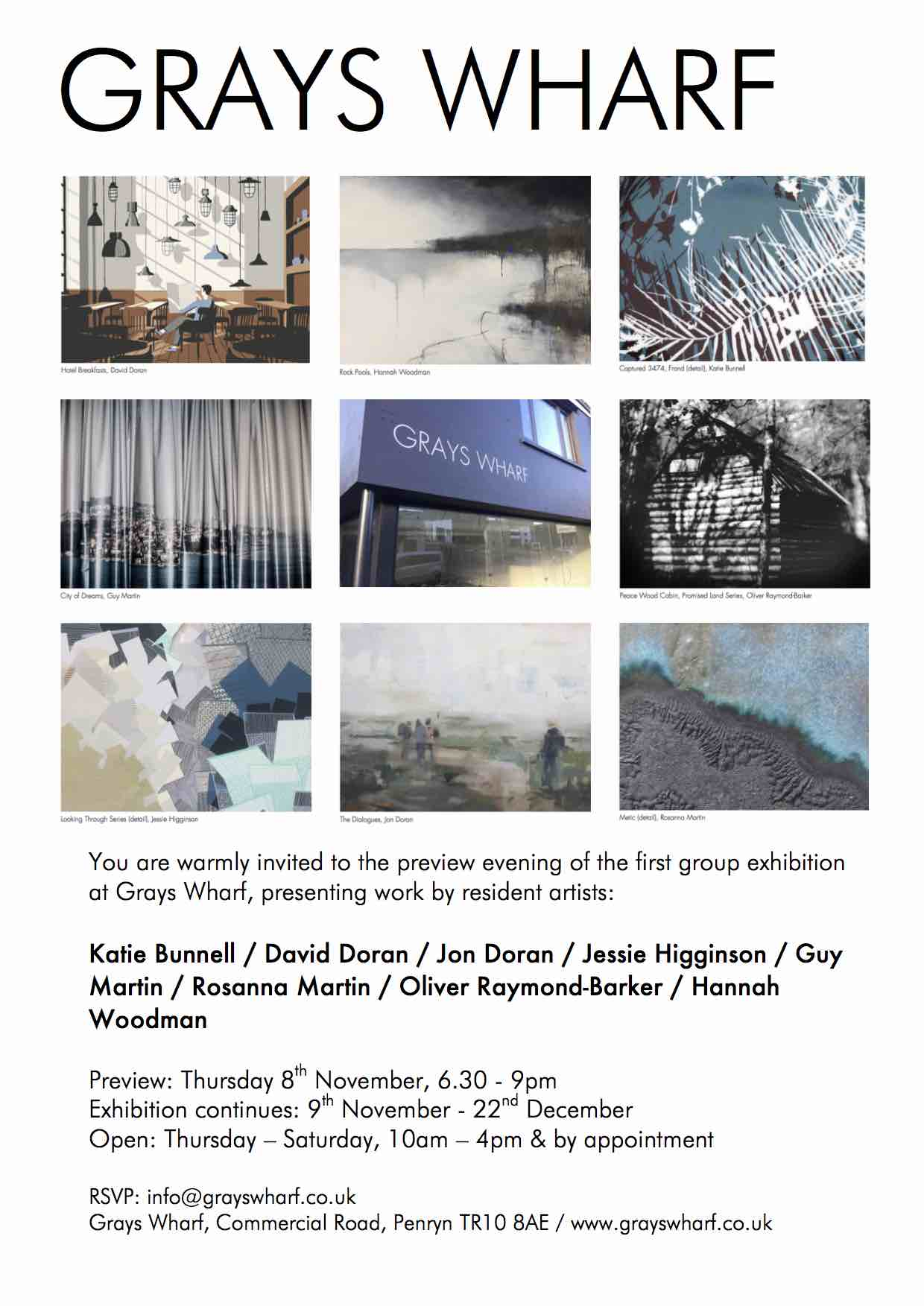 Grays Wharf opening Exhibition Invite