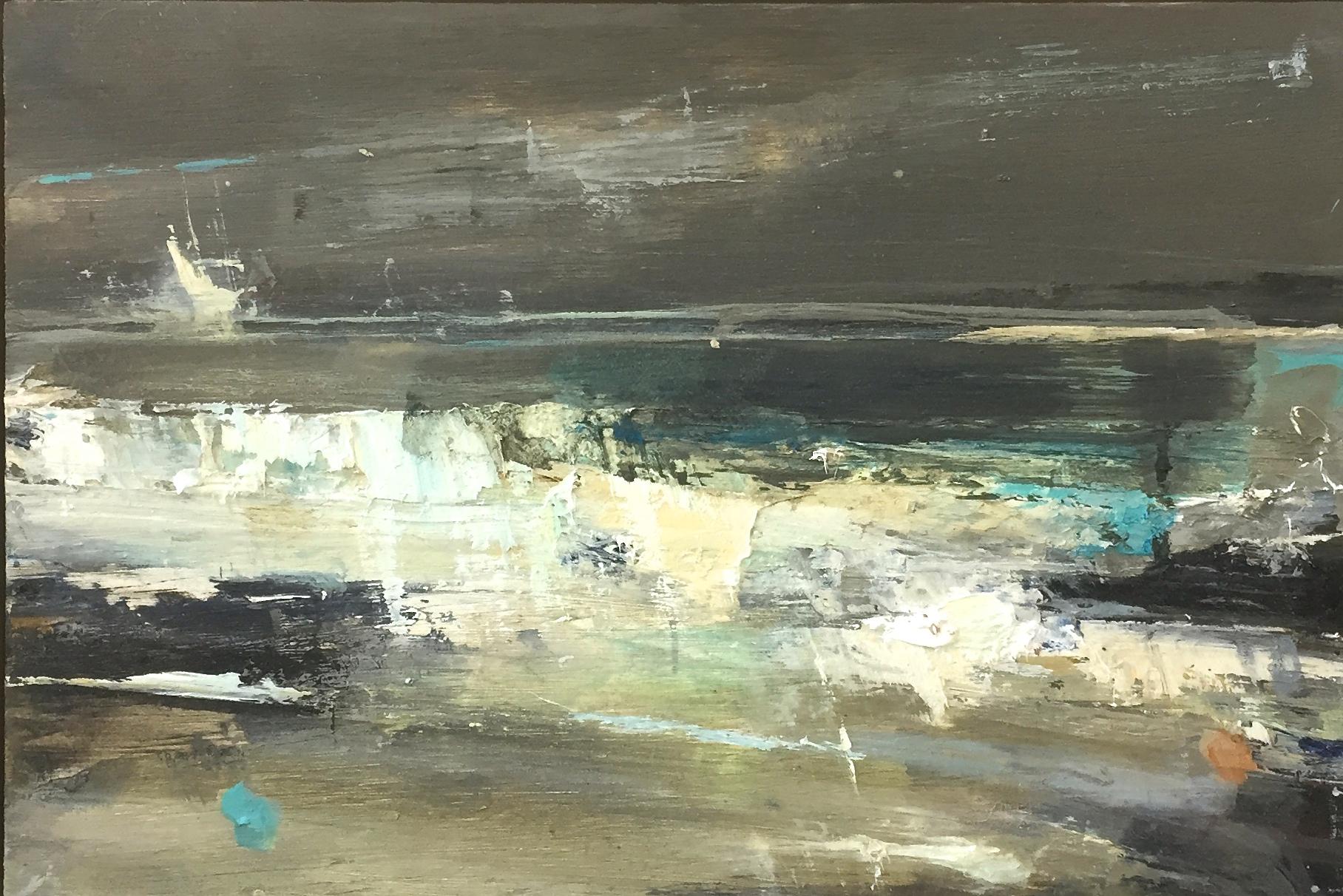 Green Swell, Sennen.  Oil on board. 20 x 30cm  Sold