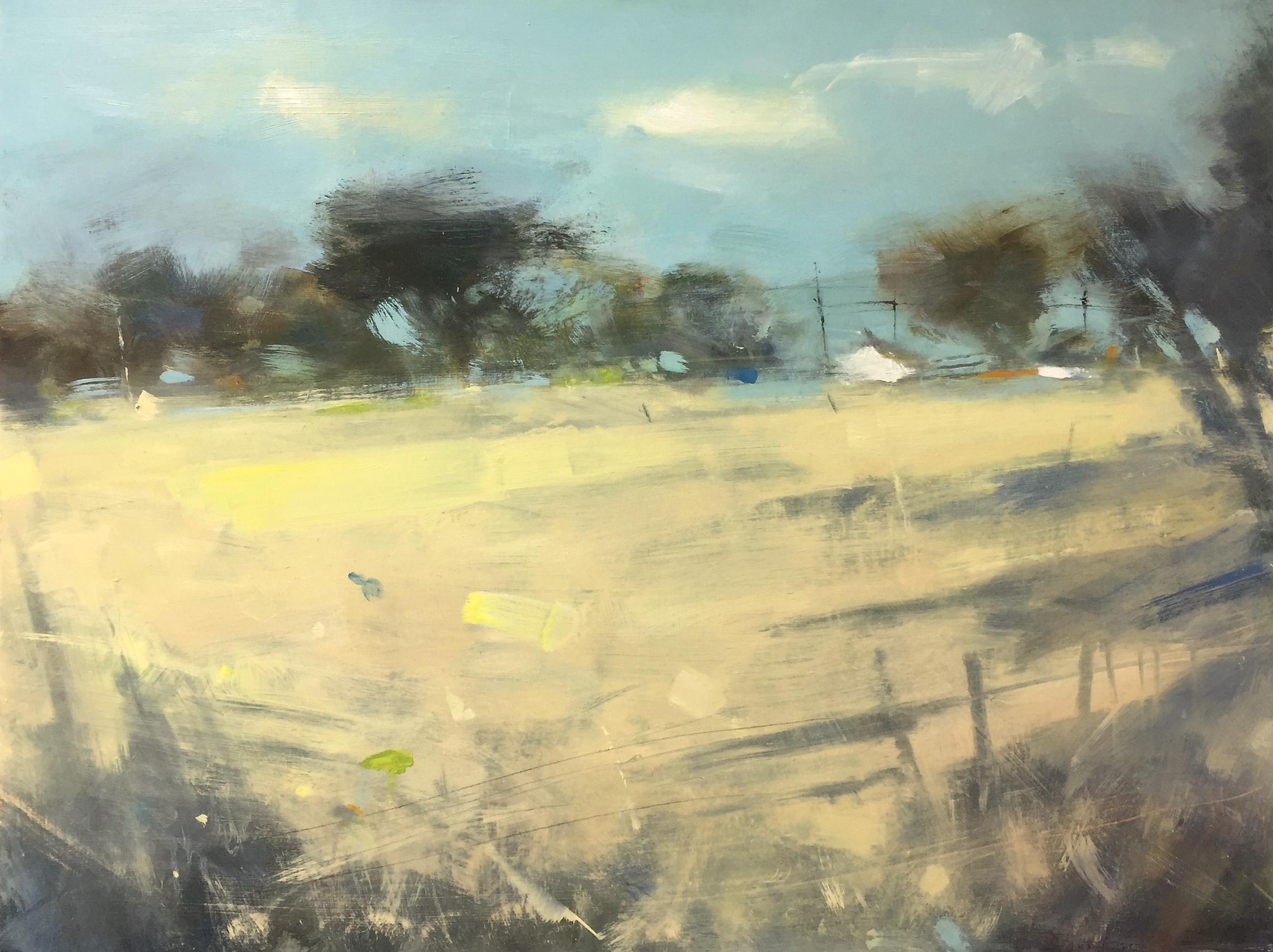 Wheatfield.  Oil on board. 60 x 80cm  Sold