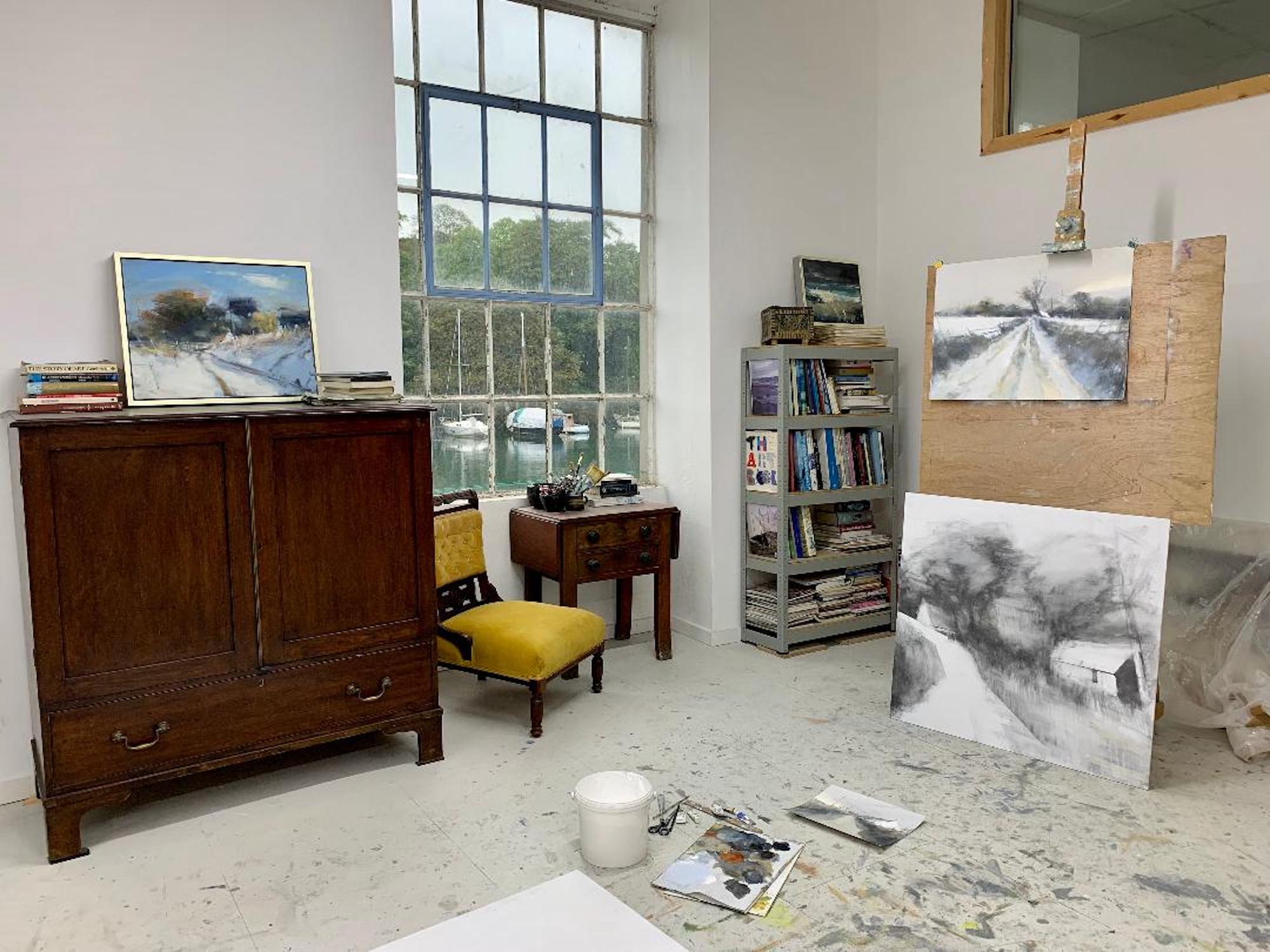 My riverside studio at Grays Wharf