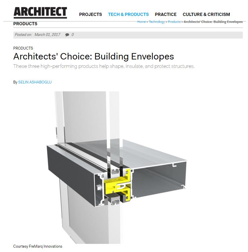 Architect Newspaper | Fremarq Innovations