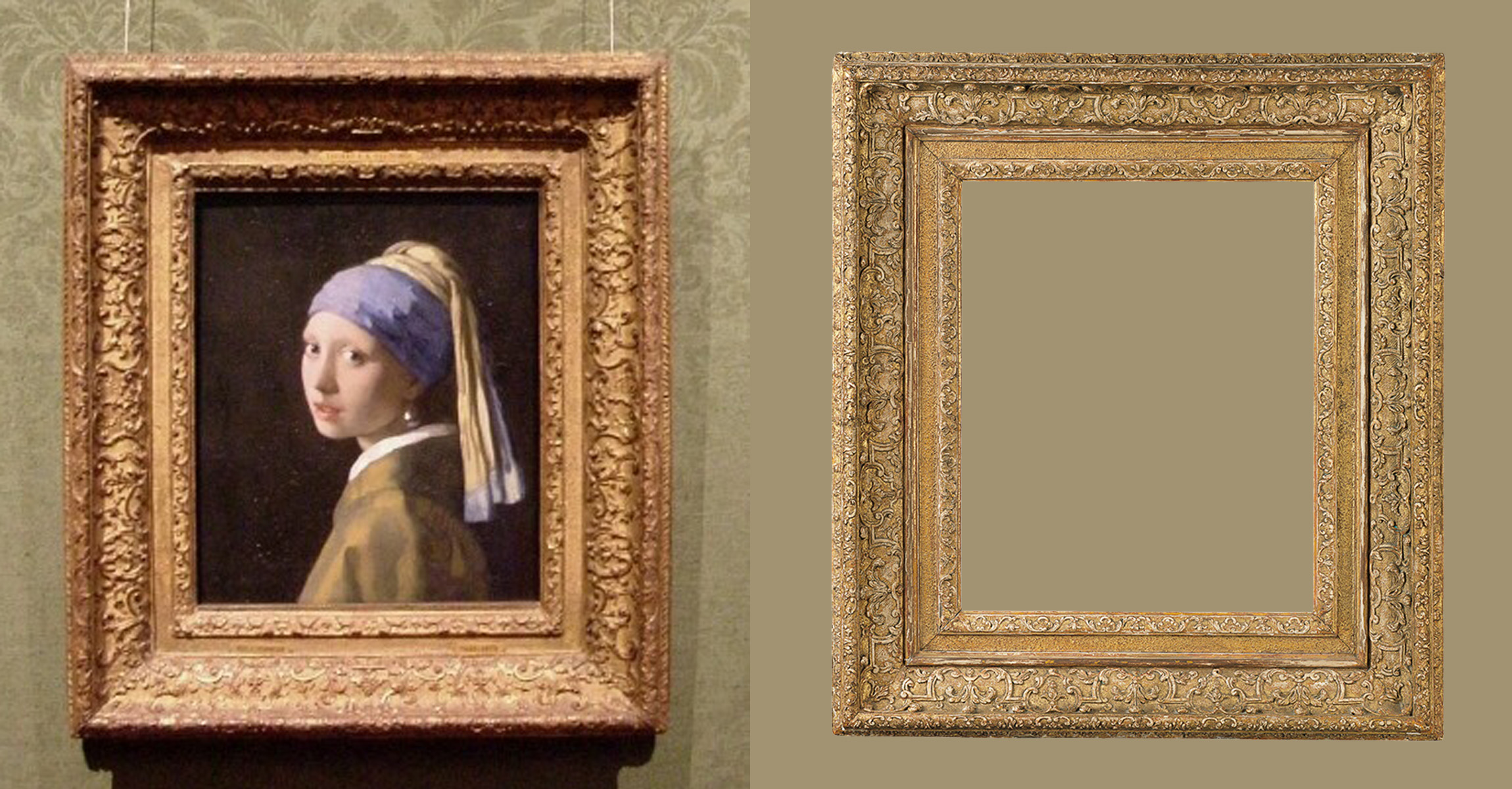 """""""Girl with a Pearl Earring"""" by Johannes Vermeer Louis XIII frame: Diego Salazar Antique Frames"""