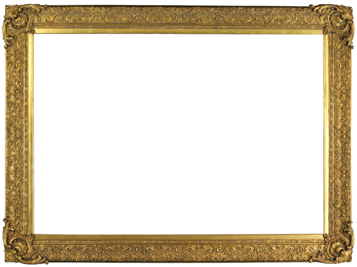 """American 19th century frame, applied ornament & gilded. A154 54 1/2"""" x 79"""" x 8"""""""