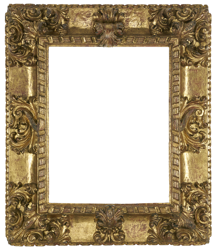 "Spanish 17th century frame, carved & gilded. SO38. 21 1/2"" x 16 1/4"" x 6"""