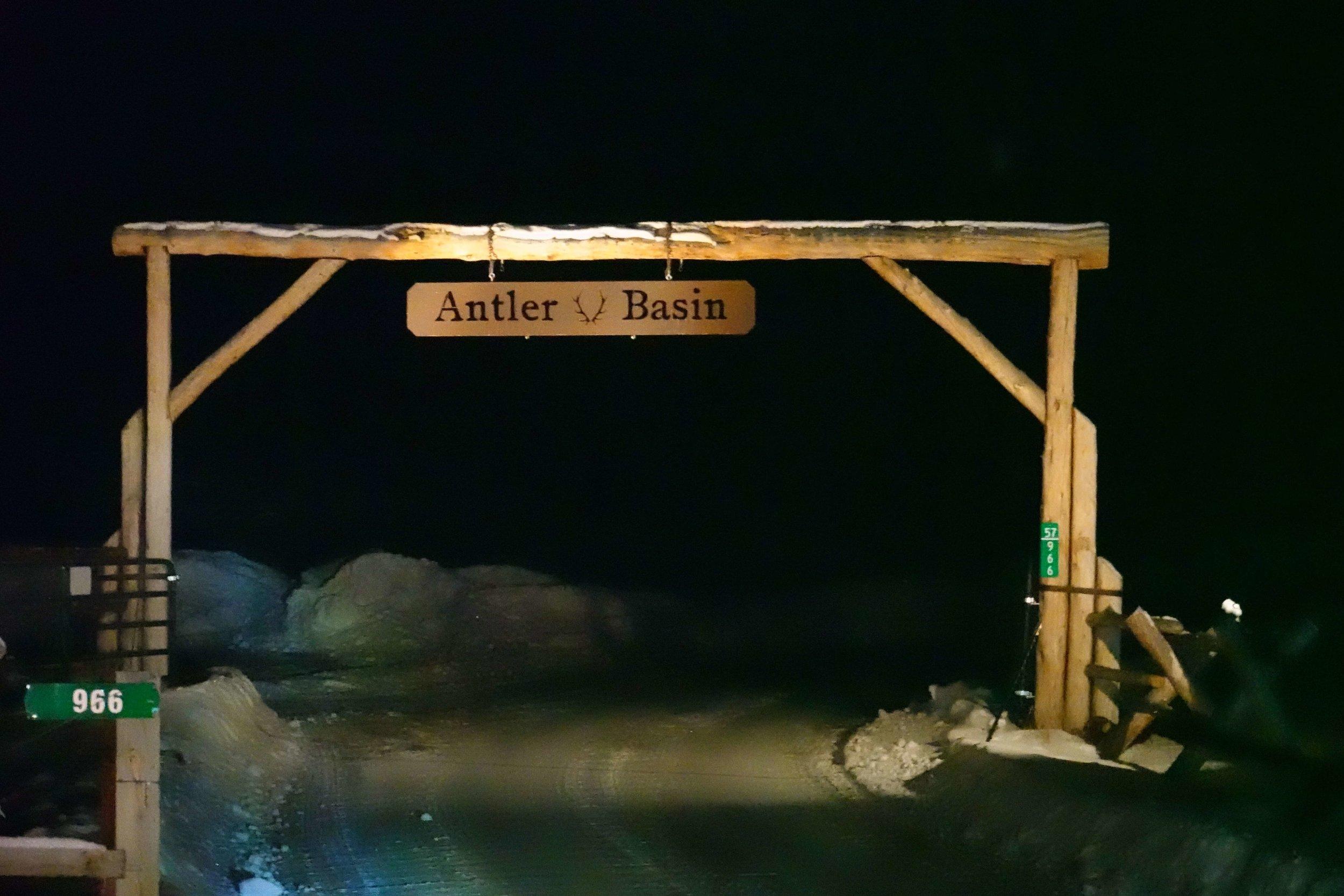 Antler Basin Ranch Entrance