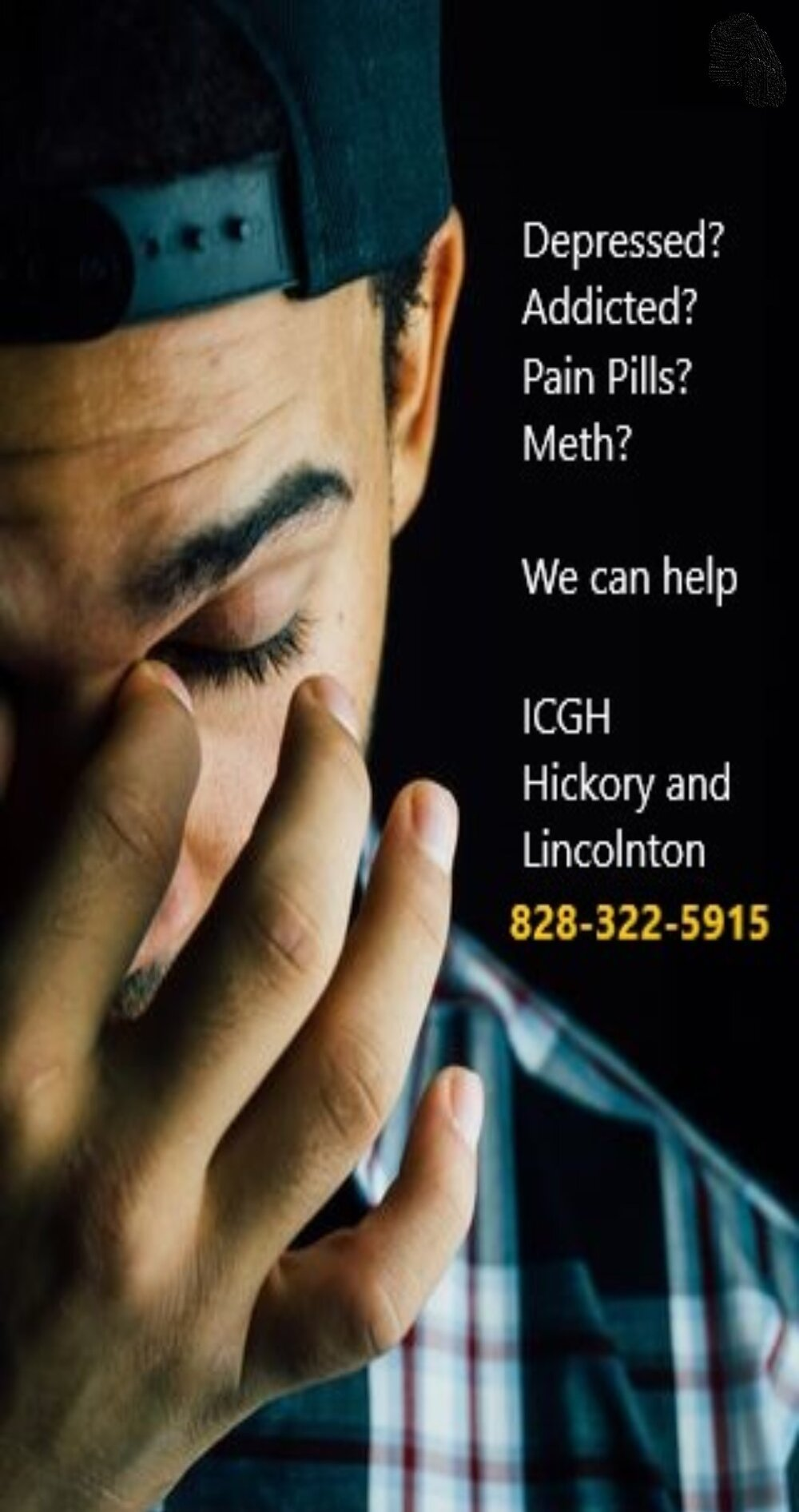 Depressed? Growing Anxiety? Has life lost purpose? Drugs or alcohol becoming a problem to help cope? Feeling lost?  You don't have to get through this alone.... Call INTEGRATED CARE OF GREATER HICKORY today for help: 828-322-5915, ext 220. HICKORY -LINCOLNTON - GASTONIA - DOBSON LOCATIONS.