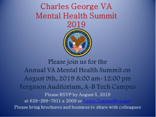 ICGH Counselor, Peer Specialist, and Veteran Wayne McMeans, CSAC-R, NCCPSS, and ICGH CEO and Clinical Director Corey Richardson, DHSc, MBA, were presenters at the 7th Annual VA Mental Health Summit in Asheville, NC, today. McMeans was the honored key note speaker and opened the forum with his meaningful message of hope as he shared his own recovery story. Dr. Richardson held an intensive workshop for VA mental health services providers on evidence based practice in the treatment of opioid use disorders. Laura Tugman, PhD, Assistant Chief of Mental Health Services at Charles George VA Medical Center has organized this conference for the last 7 years. An interesting side note, Drs. Richardson and Tugman are also childhood friends who grew up together in Boone, NC. All are already looking forward to next year's summit, and have several events and forums planned in the interim.