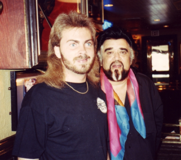 Blake with the world-famous Wolfman Jack in Dallas in the '90s. The duo had back-to-back air shifts at KODZ (Oldies 94.9).
