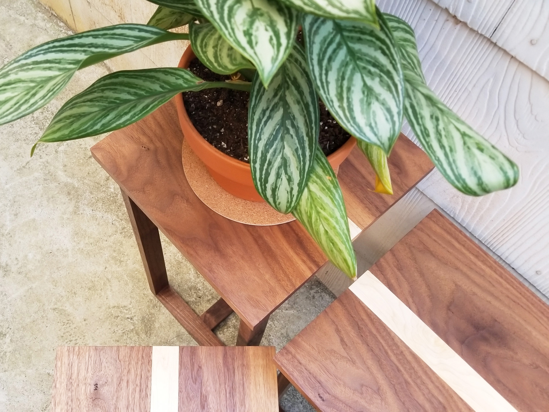 HAWTHORNE PLANT STANDS - IN SOLID WALNUT