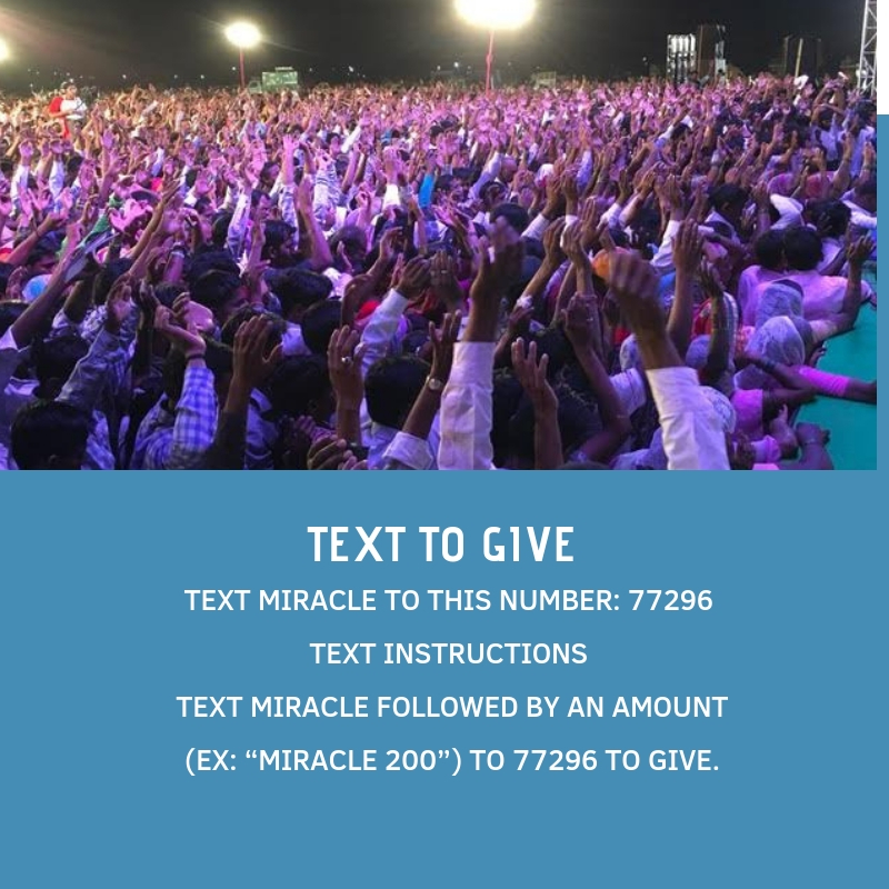 TEXT TO GIVE - TEXT THE WORD MIRACLE TO 77296TEXT MIRACLE FOLLOWED BY AN AMOUNT FOR EXAMPLE MIRACLE200