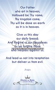 Prayer Card Back