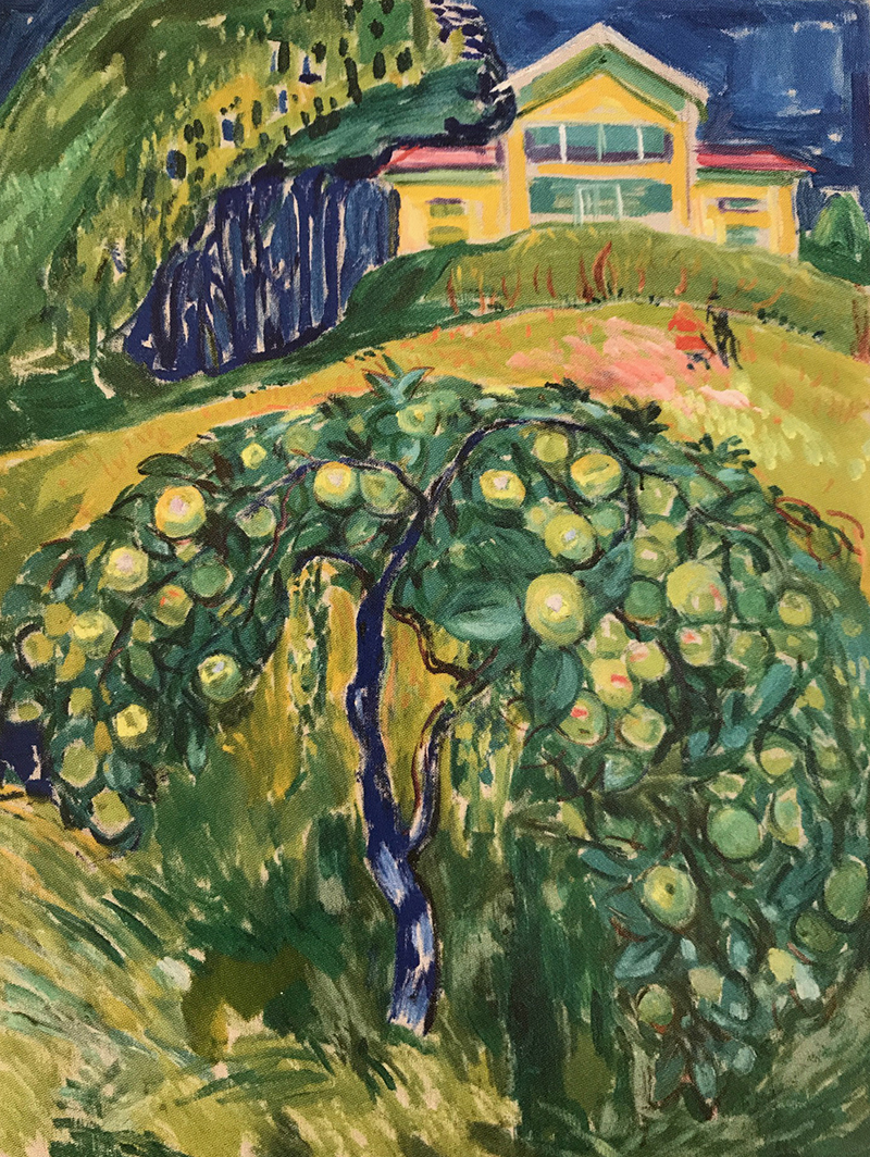 Edvard Munch, Apple Tree in the Garden (Photo: Munchmuseet, Oslo) For more information see:  http://munchmuseet.no/en/