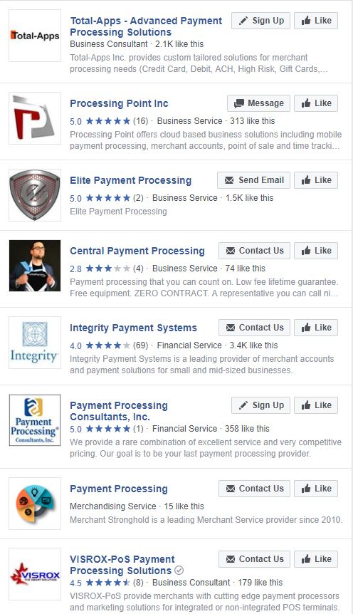 screenshot facebook search results