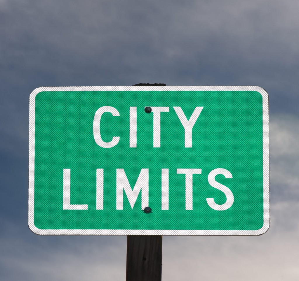 city limits sign