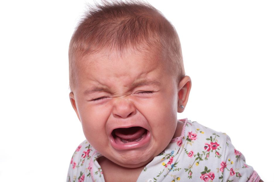 Adorable crying baby!