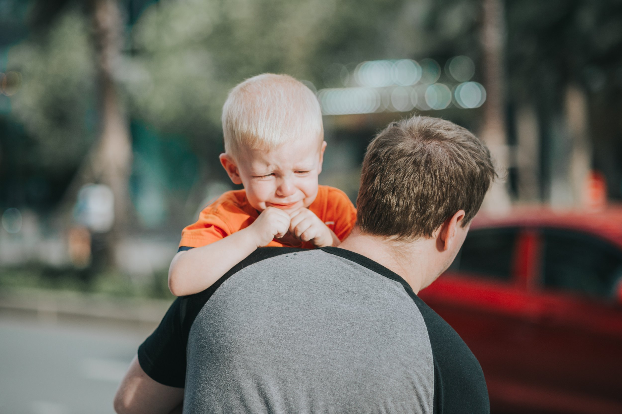 Dads can really be the target of unkind words from strangers when their child misbehaves.