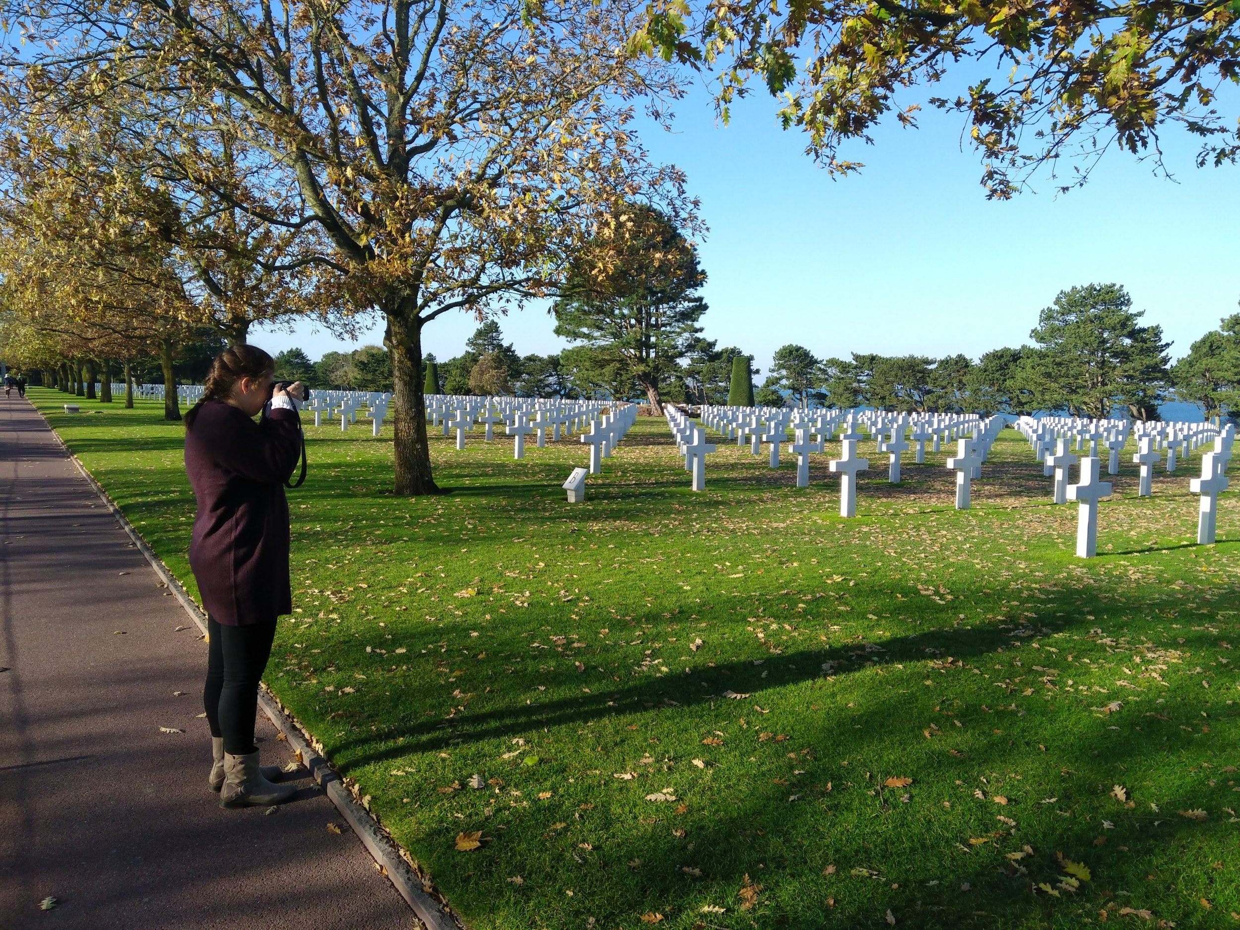 WWII Normandy American Cemetery of Colleville, France.
