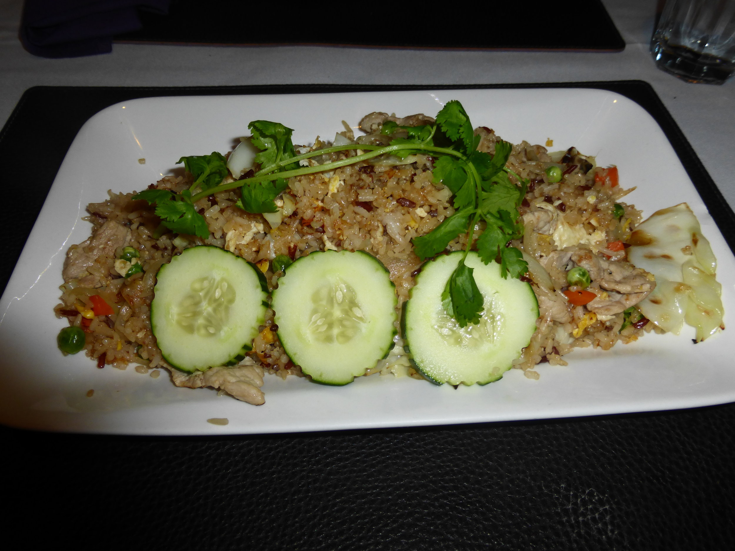 My  Chicken Fried Rice  had a tasty balance of meat and vegetables, and was enough for leftovers.