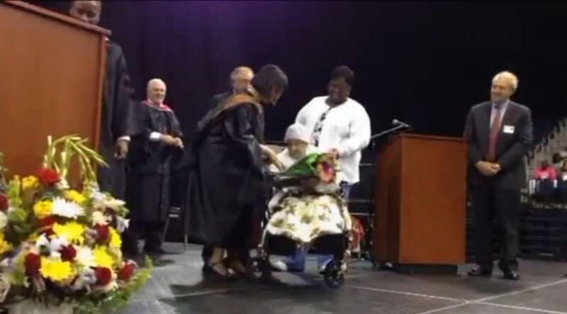 Lela Burden's graduation day!