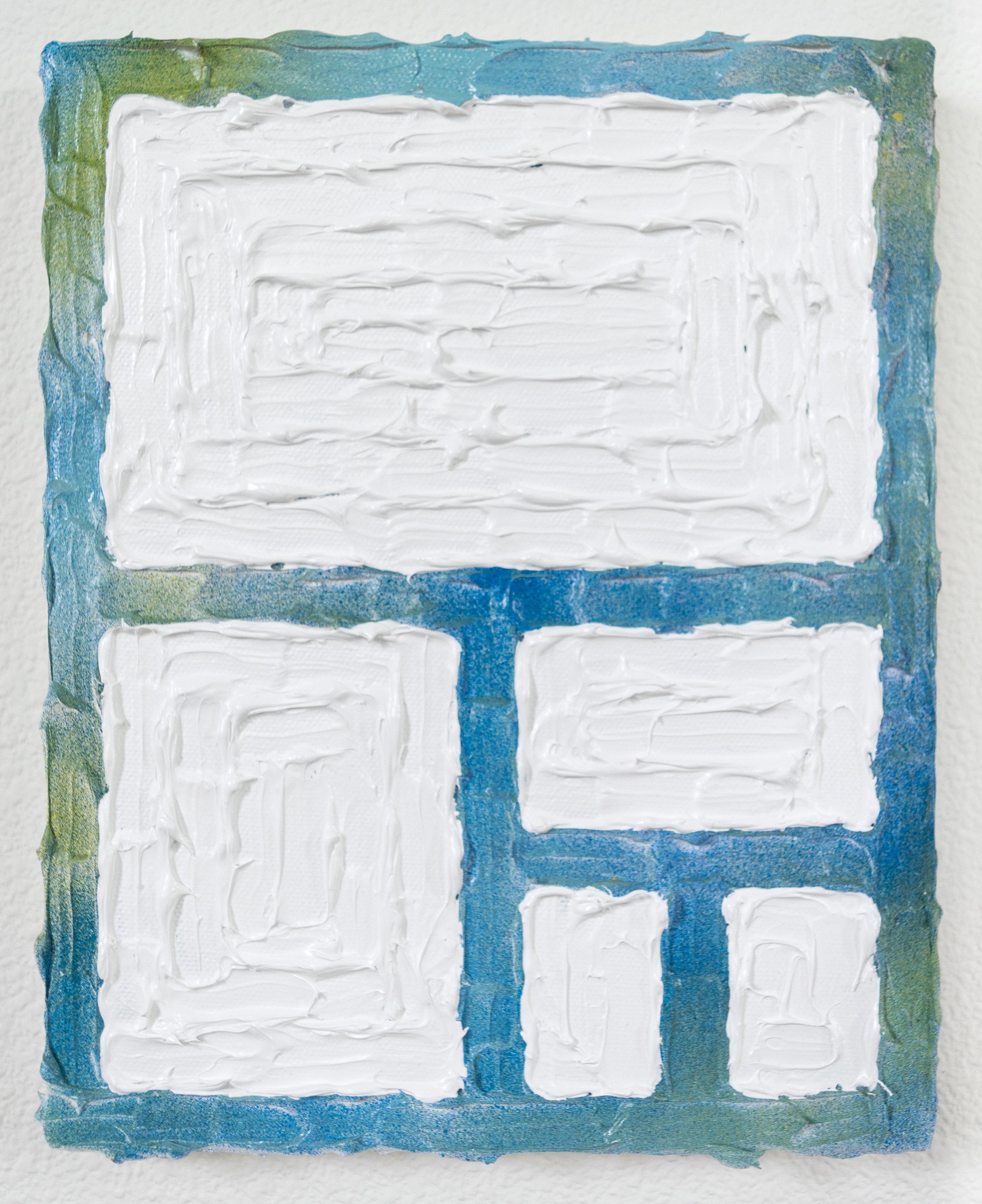 Future Houseplan  Acrylic, enamel, canvas  8 x 10 inches  2017