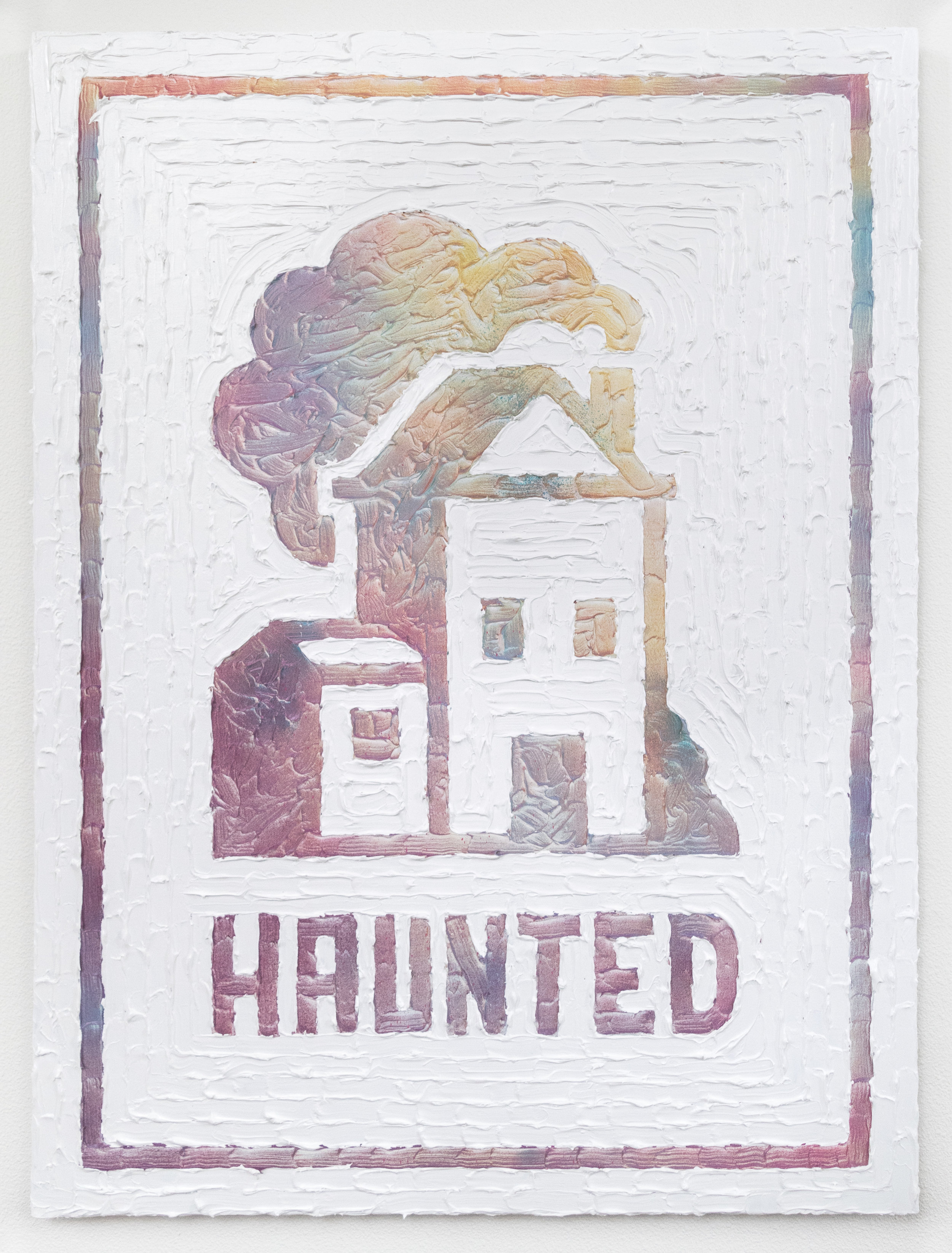 Humble Abode (Haunted)  Acrylic, enamel, canvas  30 x 40 inches  2017