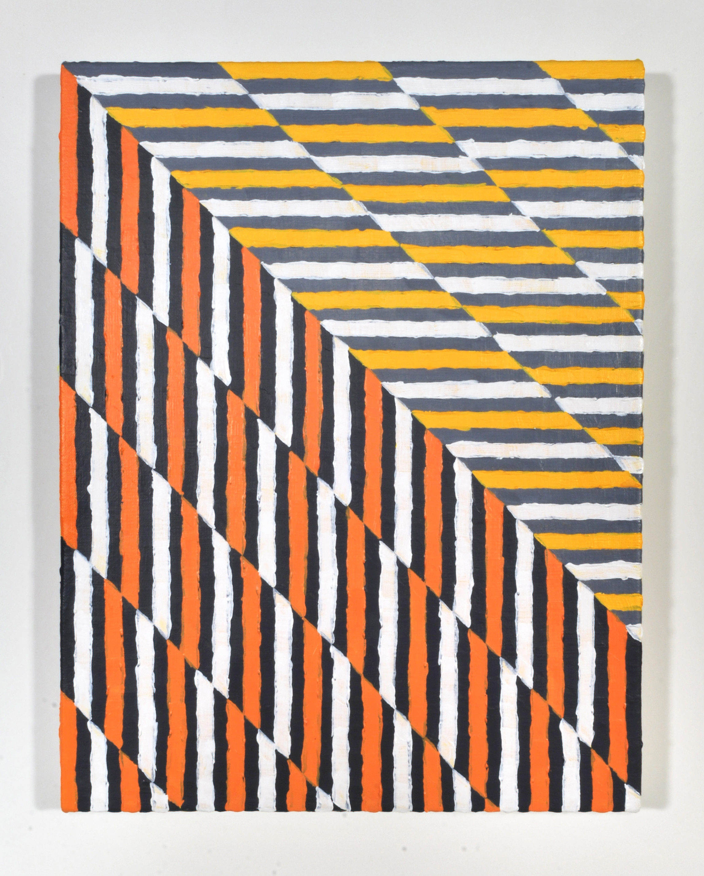 Tilt-A-Whirl  Acrylic, canvas  12 x 16 inches  2013
