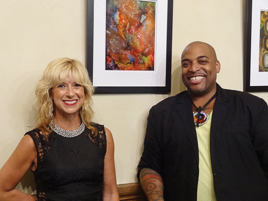 """Kristin DeAngelis (Curator), Bryant Small (Artist) - """"FREE TO FLY"""" - Opening Reception- July, 11, 2018 - Majestic Theatre Condominiums"""