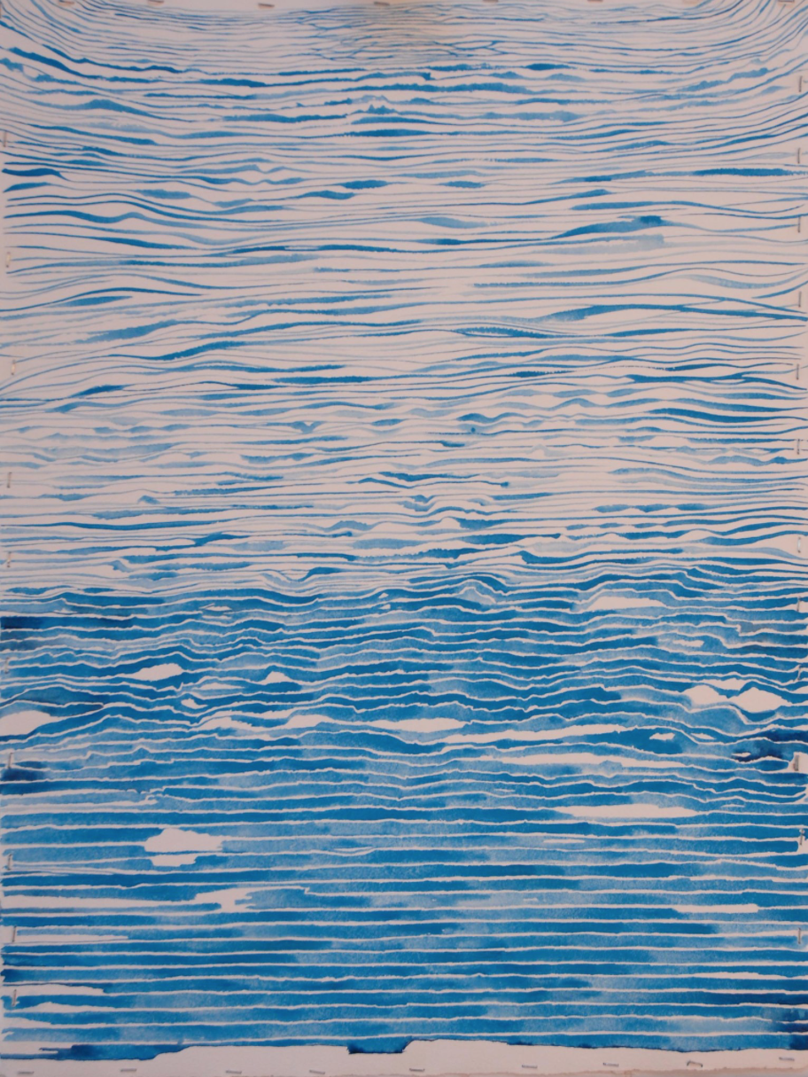 "What I think of as my first ""Memory of Water"" painting"