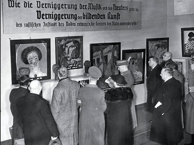 The Degenerate Exhibition, Munich Germany, 1937