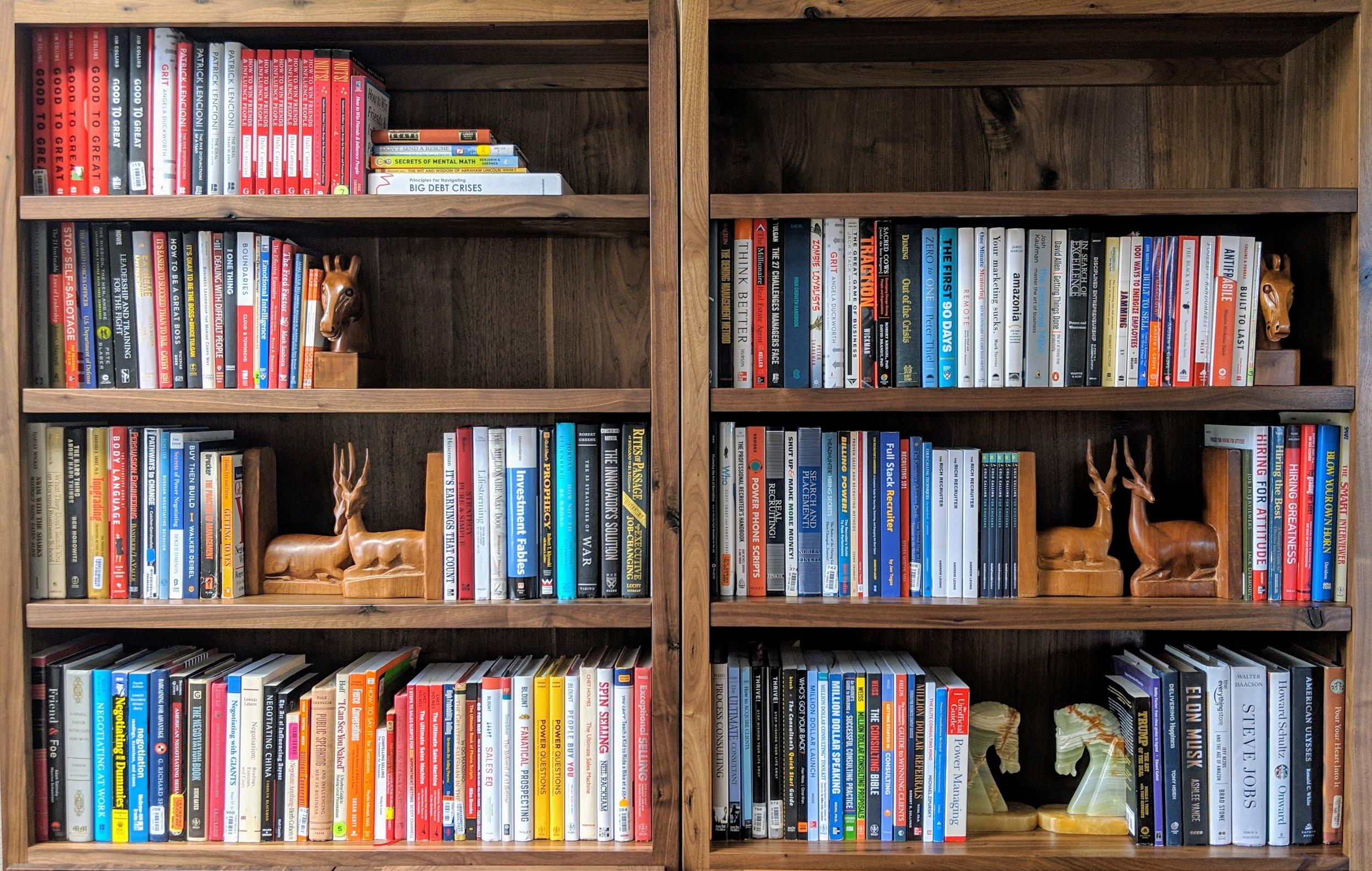 Our actual bookshelf.