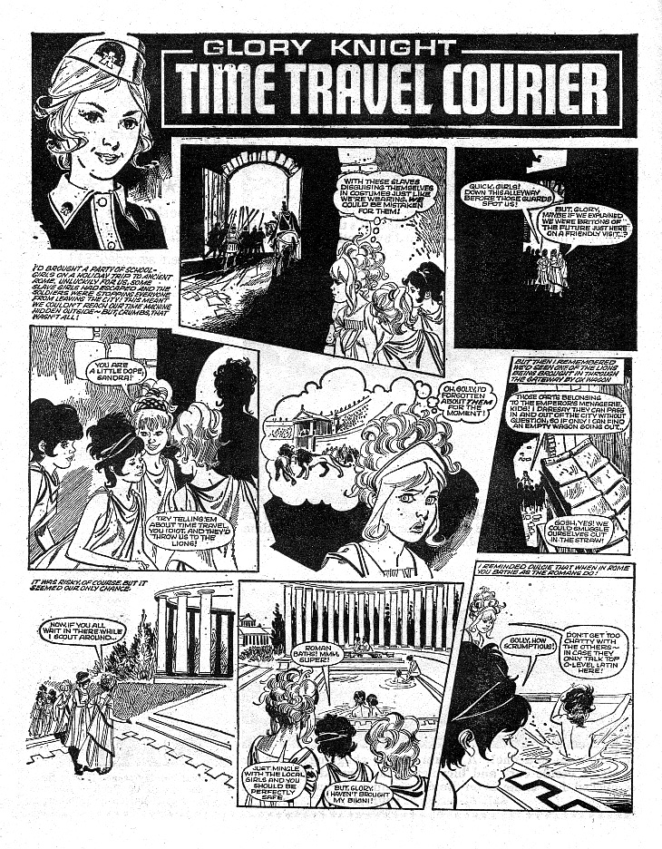 'glory knight: Time Travel courier' ( June and School Friend , 1971).