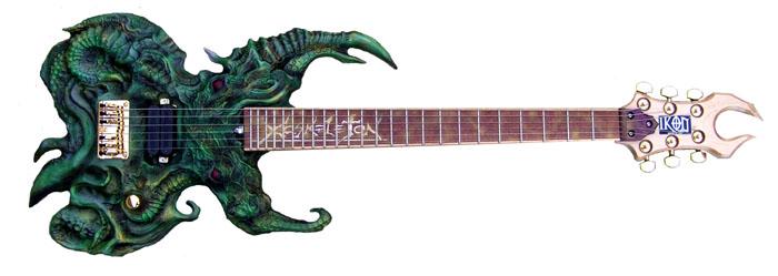 Cthulu-inspired guitar