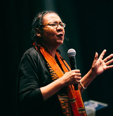 Feminist author and scholar bell hooks