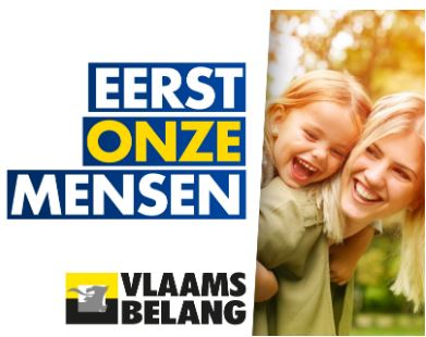 "Vlaams Belang ""Our folks first"" slogan 2019 - Belgium"
