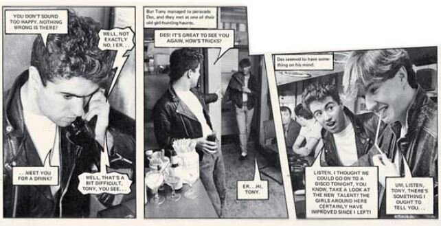 George Michael stars in this photo strip from  Jackie