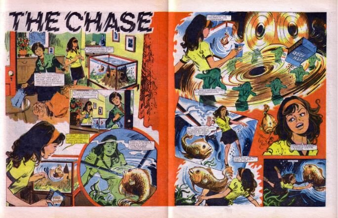 'The Chase',  Misty  #40 (art by Douglas Perry, writer unknown)