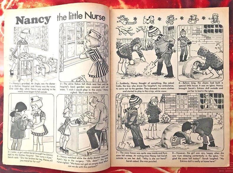 'Nancy the Little Nurse' ( Twinkle , No. 362, 28th Dec 1974)