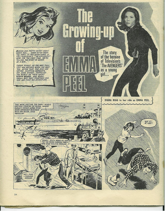 'The Growing up of Emma Peel' ( June , Fleetway, Jan. 29 1966, p. 24)