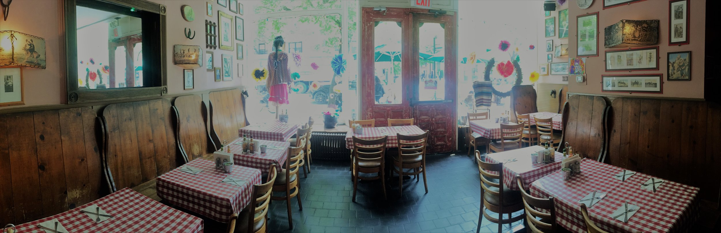 COWGIRL  As a bar and restaurant founded in 1989, Cowgirl has helped shape the NYC community of the West Village by welcoming people of all walks of life with Texas-friendly service, food and killer margaritas. The owners and staff, are proud to be a part of uniting true wild-west spirit with the independent, creative energy of NYC.