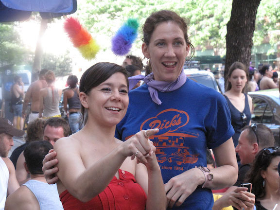 Gay Pride Festivities and Staff