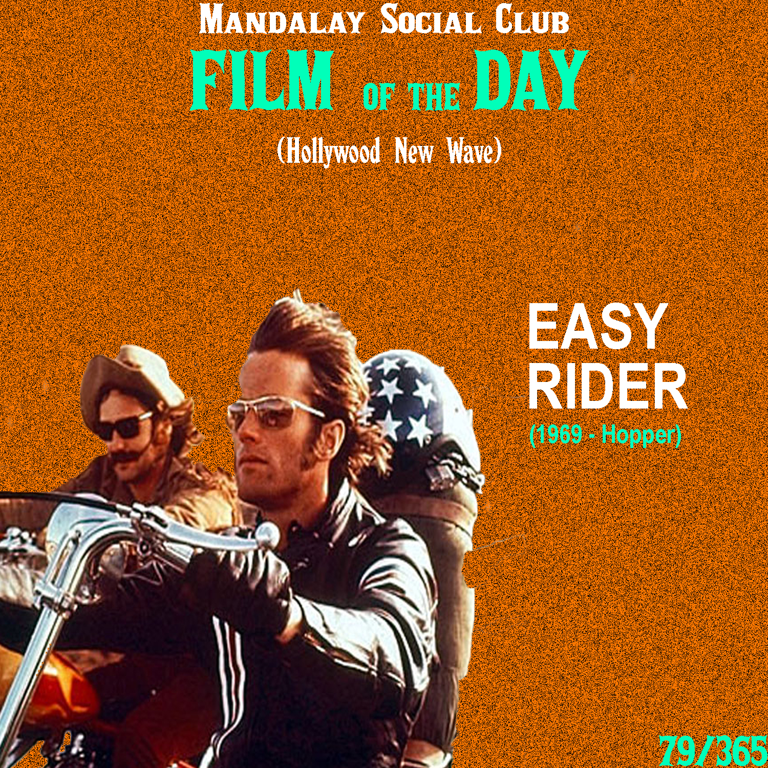 Easy Rider     (dir. Dennis Hopper)   If there was ever a film that defined a movement best, it would have to be  Easy Rider .  Easy Rider  embodies all of the qualities of the Hollywood New Wave with it's blatant display of sex, drugs, and most importantly, true freedom from the establishment.  Peter Fonda and Dennis Hopper star as a couple of bikers who make a drug score in Los Angeles and start heading east to New Orleans for Mardi Gras before heading down to Florida to 'retire.' Jack Nicholson also stars as a Texas lawyer with a bit of a drinking problem that the guys meet and take with them to New Orleans. As they make their way across the country in search of freedom, they start to realize that freedom is much harder to come across than they thought.  Dennis Hopper, Peter Fonda, and Jack Nicholson all got starts under Roger Corman and in fact, the three of them worked together just two years prior on  The Trip , which I consider a strong pre-cursor to  Easy Rider  and the New Hollywood movement all together.   Easy Rider , like  Bonnie & Clyde , was a film that audiences could relate to and call their own. Hopper and Fonda's characters were more than just a couple of bikers. They were the counter-culture, searching for freedom in the 'Land of the Free.'    5/5     WATCH: Hulu