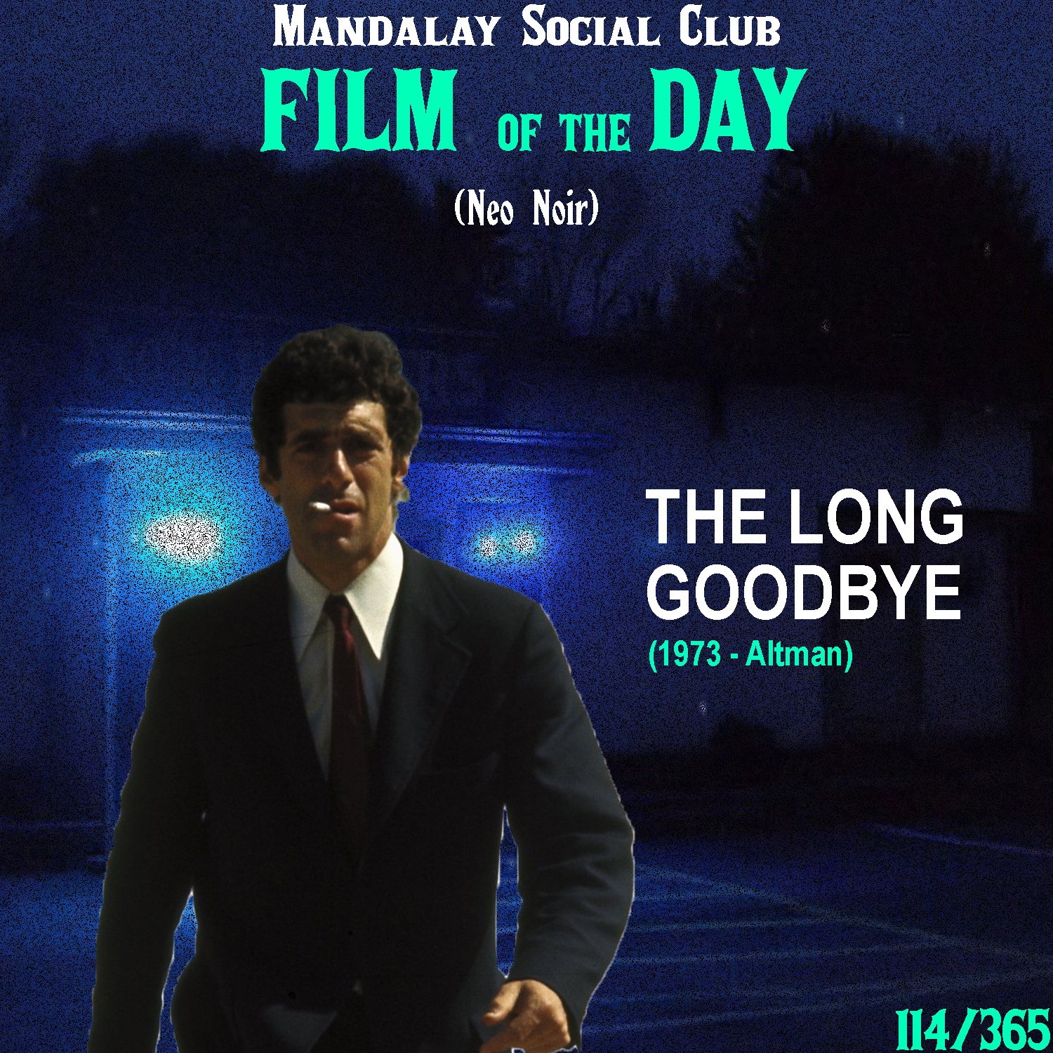 THE LONG GOODBYE     (dir. Robert Altman)   Robert Altman's take on Raymond Chandler's classic crime novel  The Long Goodbye  makes for one of the most exciting and mysterious films to come out of the 1970s!  Elliott Gould (yes, Monica and Ross' dad in Friends) tries his hand at playing the legendary PI, Philip Marlowe. This time, it's set in 1970s California where Marlowe finds himself entangled in a mysterious plot after he takes his friend Terry down Tijuana. When he comes back to LA, he finds out that Terry's wife has been murdered and Terry is the prime suspect. After hearing reports of Terry committing suicide in Mexico, Marlowe is let free and is then hired by a woman to find her alcoholic husband. This woman, however seems to have a shady past with Terry and his wife…   The Long Goodbye  displays a man who's inadvertently been drawn into a world of self-obsession. The world that Marlowe lives in for the nearly two hours of the film is a world of pure narcissism and disregard for human life. It's a world where people are so self-absorbed in themselves that they have no clue the trauma they cause other people. 46 years later and it's still an accurate warning sign of what could be, or more accurately, what already is.    5/5     WATCH: Putlocker / iTunes