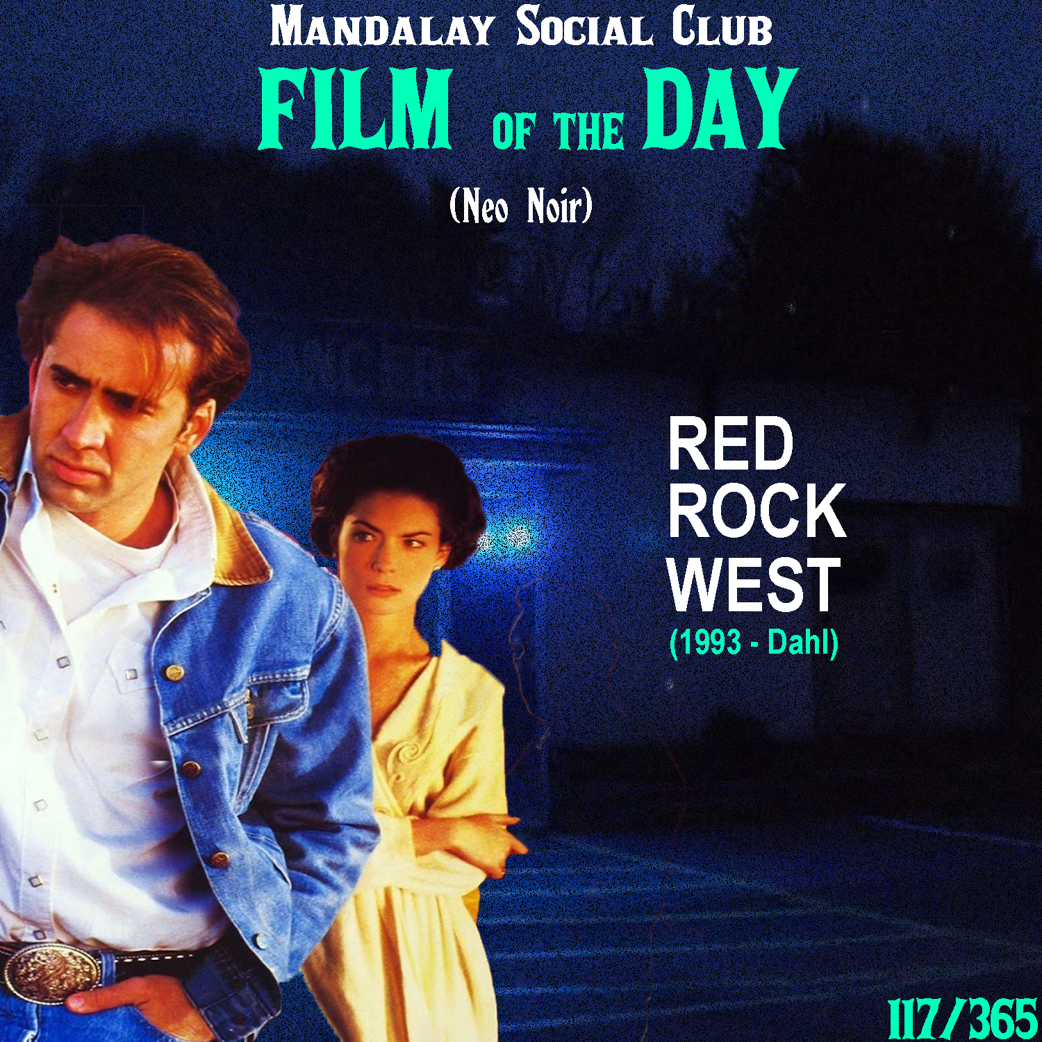 RED ROCK WEST     (dir. John Dahl)   John Dahl, a director with a real fetish for the Neo-noir genre, takes the two last films we talked about it and almost combined them to create this unique little 90's noir.   Red Rock West  stars three David Lynch alum with Nicolas Cage, Dennis Hopper, and Lara Flynn Boyle. Cage stars as a loner named Michael who stumbles through small town Wyoming. He's in need for money and unknowingly accepts $5,000 to kill a bar owner's wife. He takes it, but doesn't go through with it and the real hitman, played by Dennis Hopper in a toned down Frank Booth-esque role, wants his money.  Dahl takes a lot of influence from Blood Simple in putting this noir in a desolate, western environment and presents us with some idiosyncratic characters like Lynch. In 1994, Dahl made his most critically acclaimed film with  The Last Seduction , but there's just something about the unique setting and quirky group of characters that give this film a unique place in the Neo-noir world.    4/5     WATCH:  Putlocker, iTunes